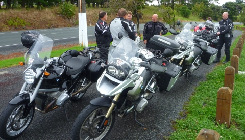 Taking a break on the State Highway, NZ