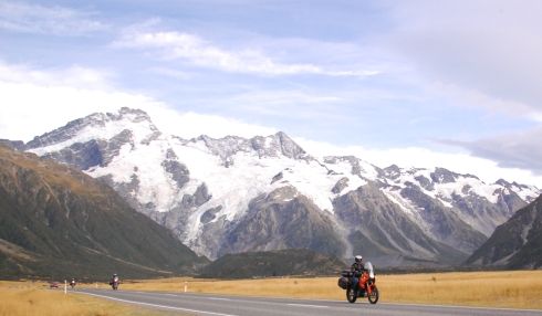 Heading away from Mount Cook