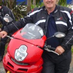 Nick and his beloved Ducati